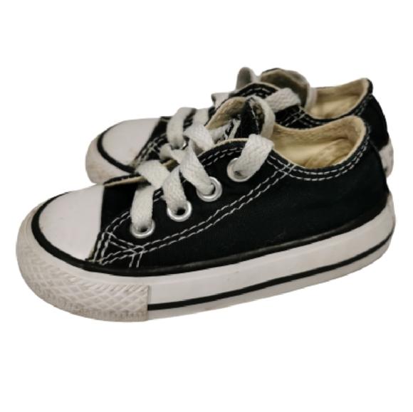 Converse Baby Toddler Shoes Lo Black Chuck Taylor